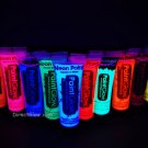 PaintGlow 10ml/.34oz UV Reactive Face and Body Paint- 10 Pack (FREE UV light)