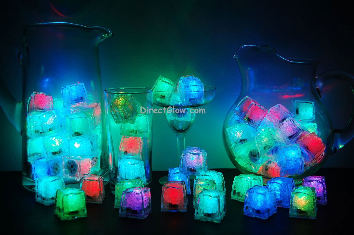 Set of 72 Litecubes Brand RAINBOW Light up LED Ice Cubes