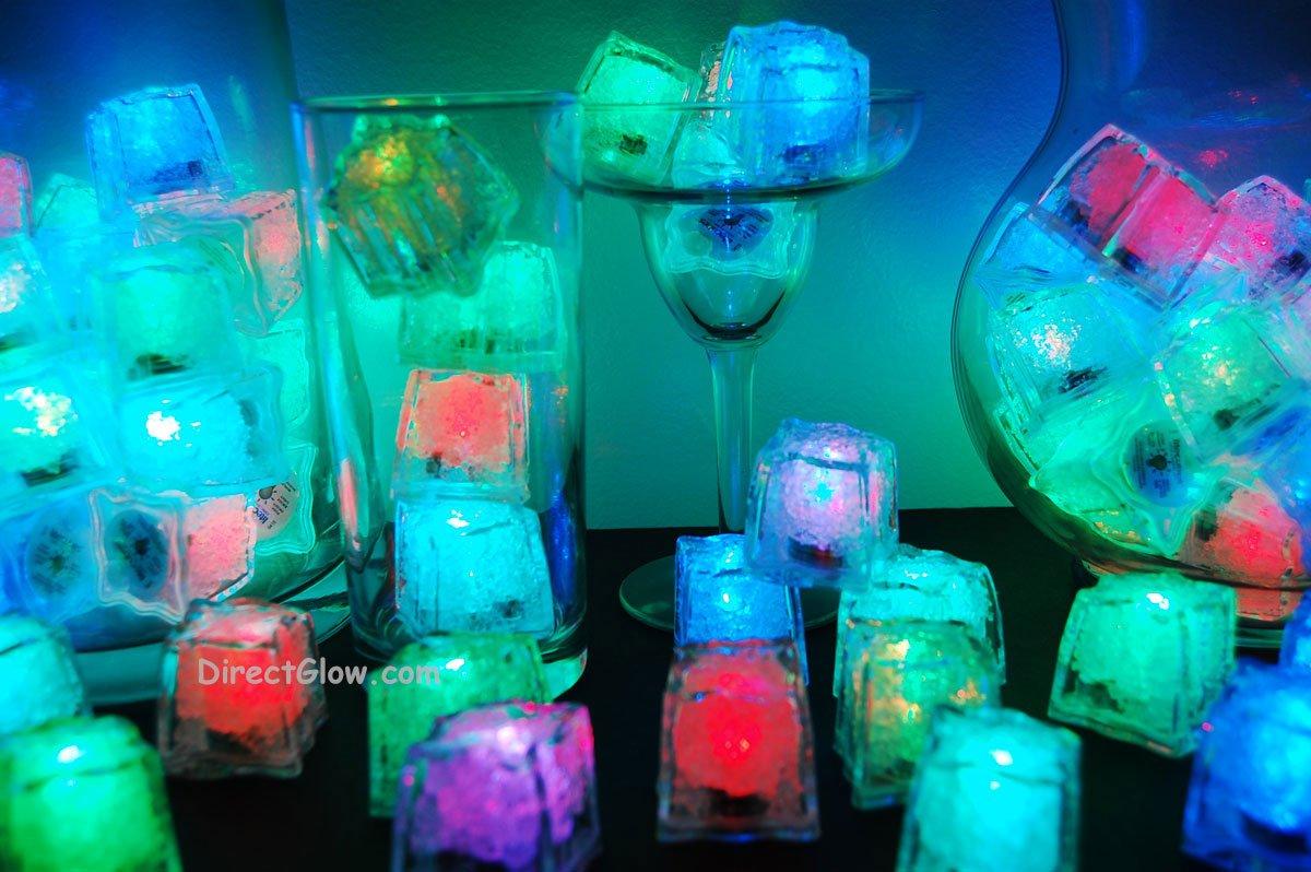 Set of 96 Litecubes Brand RAINBOW Light up LED Ice Cubes