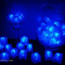 Set of 48 Blue Litecubes Brand Light up LED Ice Cubes