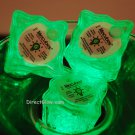 Set of 6 Green Litecubes Brand Light up LED Ice Cubes