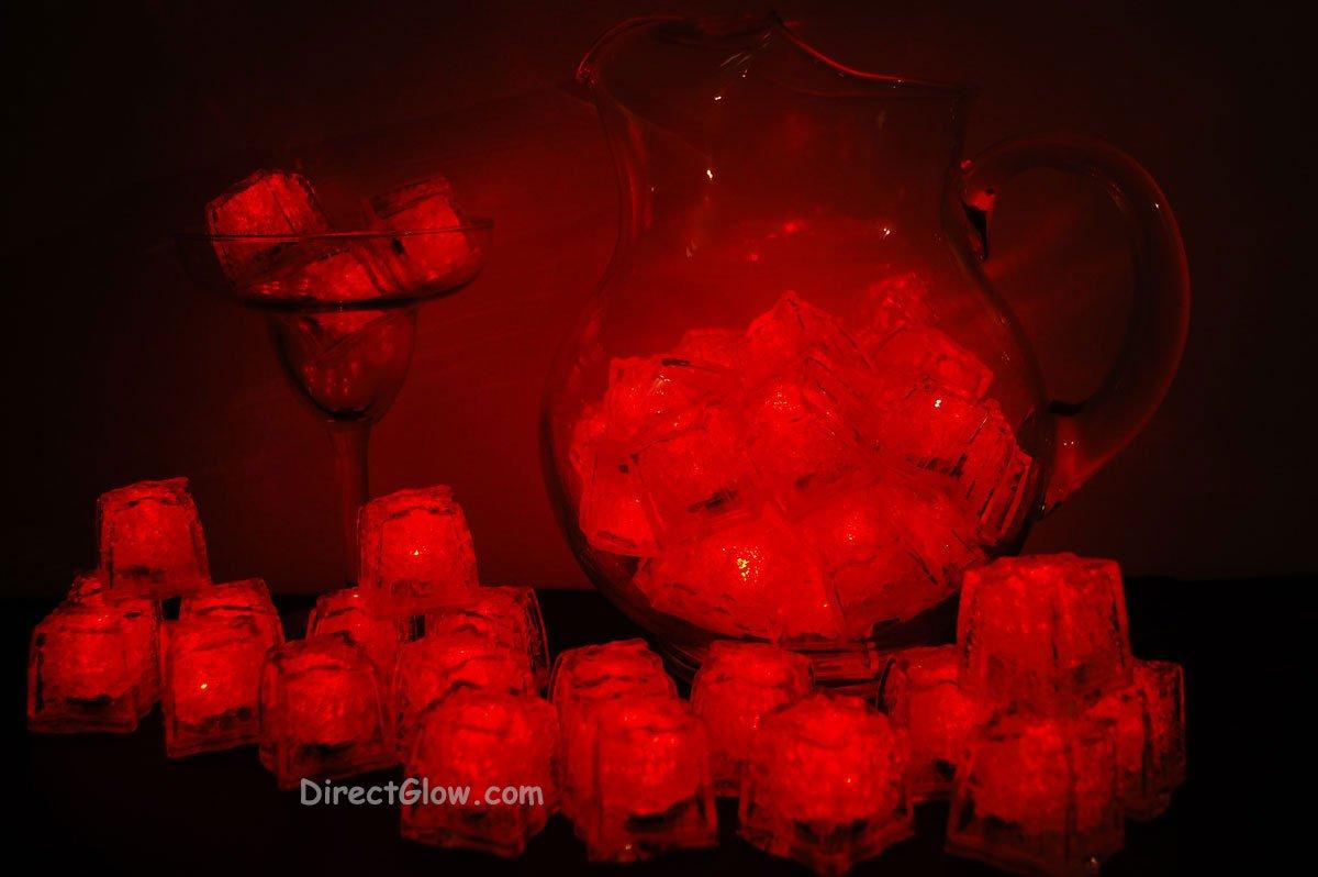 Set of 48 Red Litecubes Brand Light up LED Ice Cubes