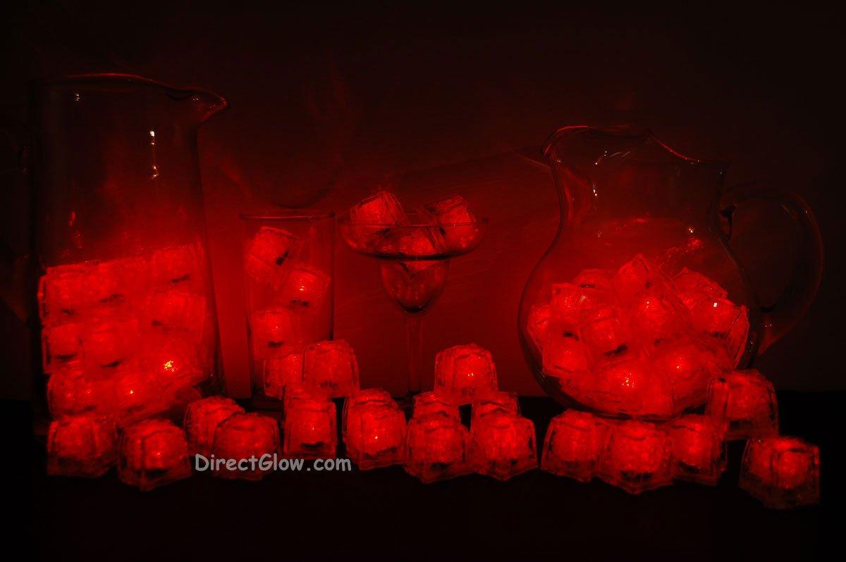 Set of 72 Red Litecubes Brand Light up LED Ice Cubes