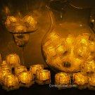 Set of 48 Yellow Litecubes Brand Light up LED Ice Cubes