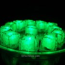 Set of 12 Litecubes Jewel Color Tinted Emerald Green Light up LED Ice Cubes
