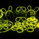 "100- 8"" Yellow Glow Stick Bracelets Party Pack"