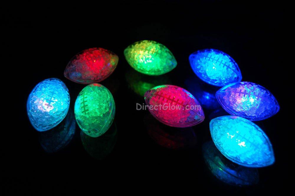 Set of 8 Litecubes Brand RAINBOW Light up LED Footballs
