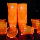 Orange Blacklight Reactive 2oz Shot Glasses 50ct