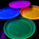 Blacklight Reactive 9 Inch Plastic Party Plates- 20 ct.
