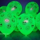 50 Pack Neon Yellow 11 inch UV Blacklight Reactive Latex Emoji Balloons
