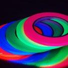 5 Pack 1/4 Inch UV Blacklight Reactive Fluorescent Gaffer Tape 5 Rolls x 25 yds