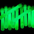 4 inch Premium Green Glow Sticks with Lanyards- 25 Count