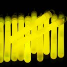 4 inch Premium Yellow Glow Sticks with Lanyards- 25 Count