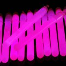 4 inch Premium Pink Glow Sticks with Lanyards- 25 Count