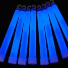 Set of 25 BLUE Jumbo 6 Inch 12 Hour Safety Glow Sticks