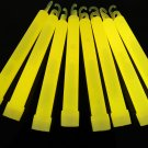 Set of 25 YELLOW Jumbo 6 Inch 12 Hour Safety Glow Sticks