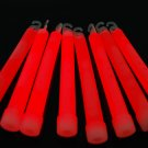 Set of 25 RED Jumbo 6 Inch 12 Hour Safety Glow Sticks