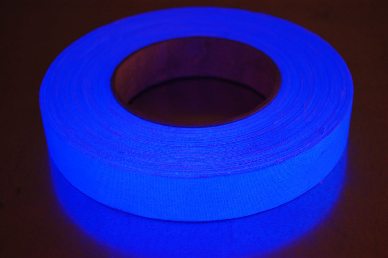 1 inch blue uv blacklight reactive fluorescent gaffer tape 1 roll x