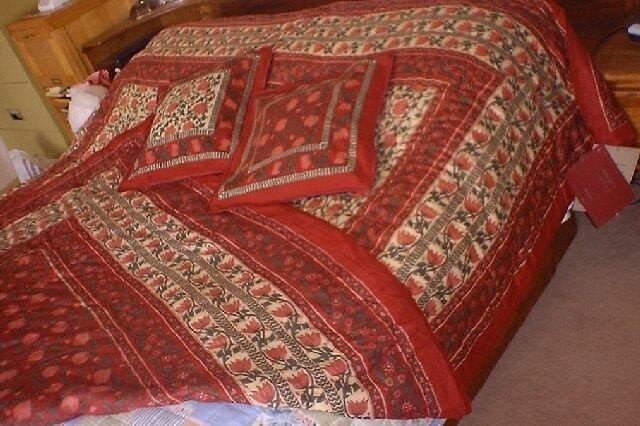 New Handmade Quilt Comforter Blanket Coverlet - Twin Size