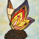 Butterfly Tiffany Styled Night Lamp - Red & Yellow