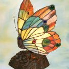 Butterfly Tiffany Styled Night Lamp - Orange
