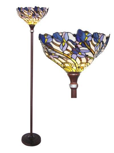Iris Tiffany Styled Torchiere Lamp