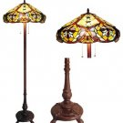 Victorian Tiffany Styled Floor Lamp