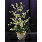 Dancing Lady Silk Orchid Arrangement - Green