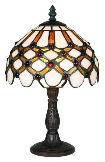 Cabochon Tiffany Styled Mini Table Lamp