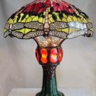 Dragonfly Design w/Lighted Base Tiffany Styled Table Lamp