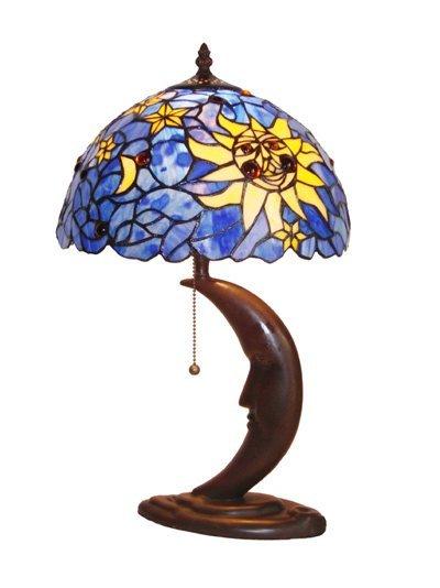 Mini Moon Tiffany Styled Table Lamp