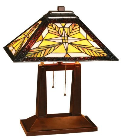 Mission Design Tiffany Styled Table Lamp