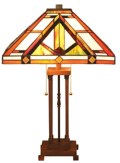 Mission Tiffany Styled Table Lamp