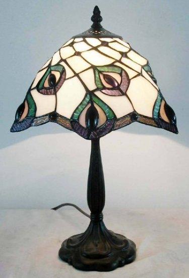 Peacock Tiffany Styled Mini Table Lamp
