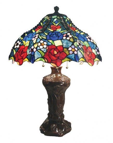 Summer Roses Tiffany Styled Table Lamp