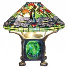 Tiffany Styled Dragonfly Table Lamp w/Lighted Base