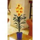 Silk Vanda Orchid Arrangement - Yellow