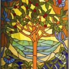 Beautiful Tree Design Stained Glass Panel