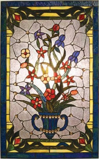 Bouquet Design Stained Glass Panel