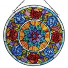 Circle Of Roses Stained Glass Panel
