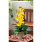Single Stem Phalaenopsis Orchid Silk Flower Arrangement - Gold