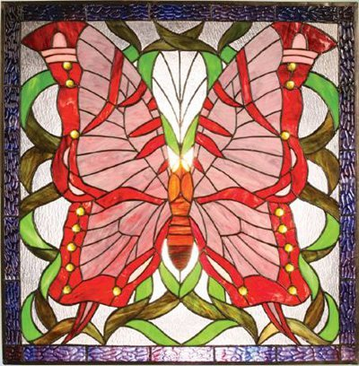 Fantastic Design! Butterfly Design Stained Glass Panel