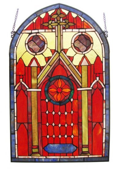Mission Design Stained Glass Panel