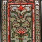 Regency Floral Design Stained Glass Panel