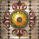 Special Victorian Design Stained Glass Panel