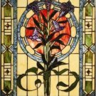 Tulips Flowers Design Stained Glass Panel