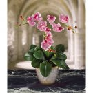 Triple Mini Phalaenopsis Silk Flower Arrangement - Lavendar