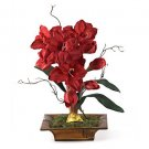 Amaryllis W/Bamboo Tray Silk Flower Arrangement