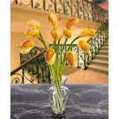 Calla Lily Liquid Illusion Silk Arrangement - Yellow