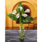Calla Lily Liquid Illusion w/Leaves Silk Arrangement